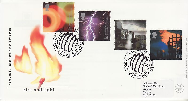Fire and Light First Day Cover