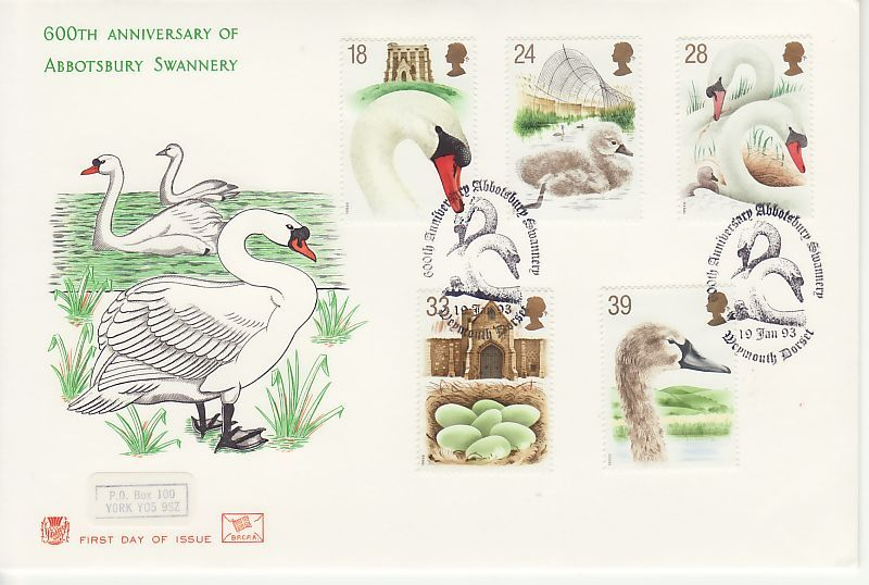 Swans First Day Cover