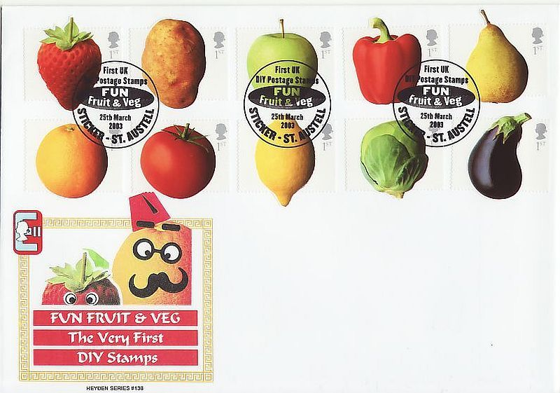 Fruit and Veg First Day Cover