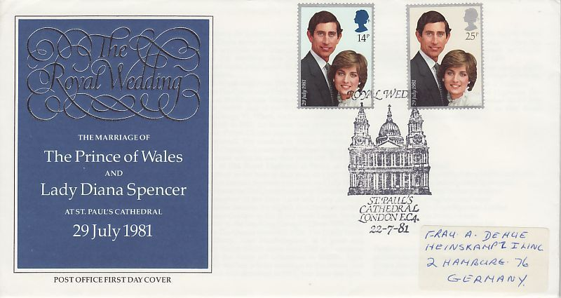 Royal Wedding First Day Cover
