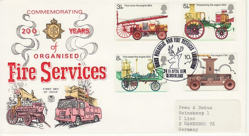 Fire Services First Day Cover