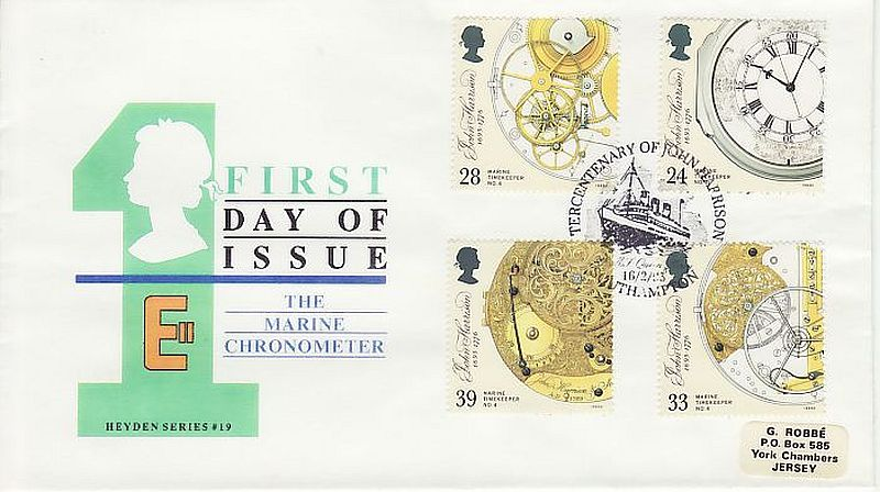 Marine Timekeepers First Day Cover