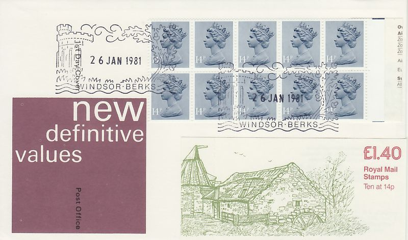 Definitive Booklet First Day Cover