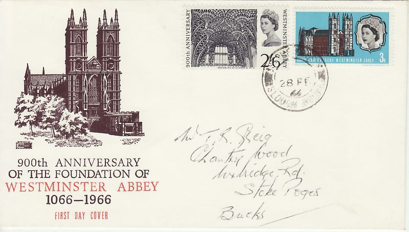 Westminster Abbey First Day Cover