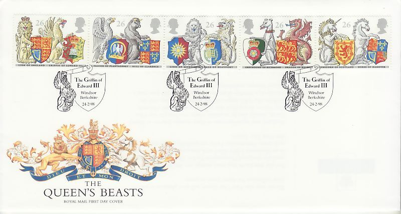 Queens Beasts First Day Cover