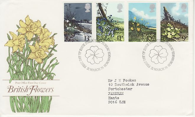 British Flowers First Day Cover