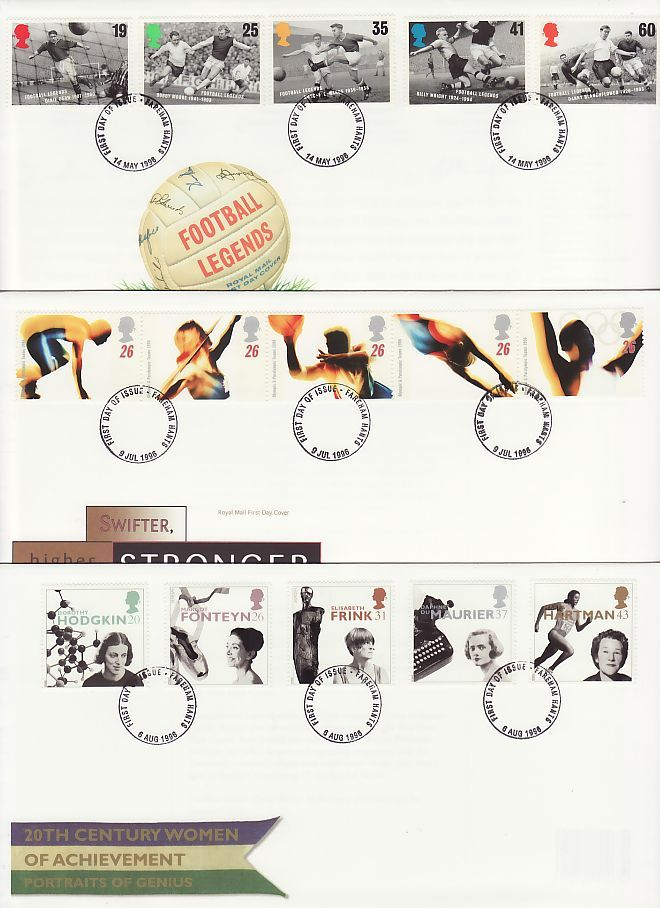 1996 First Day Covers