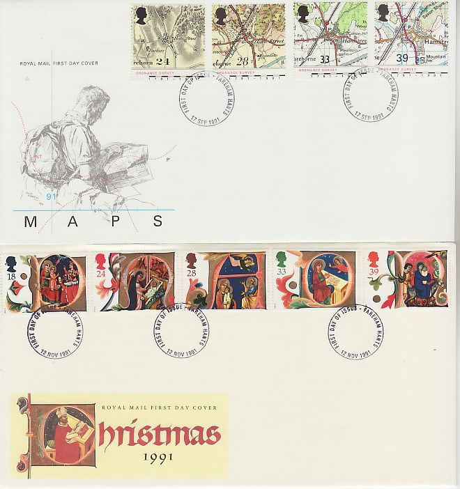 1991 First Day Covers