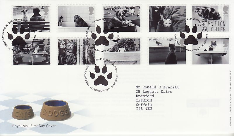 Cats and Dogs First Day Cover