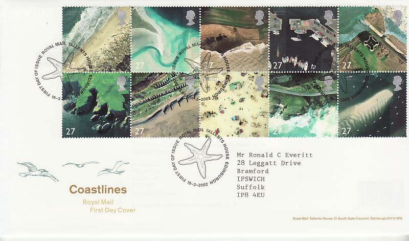 Coastlines First Day Cover