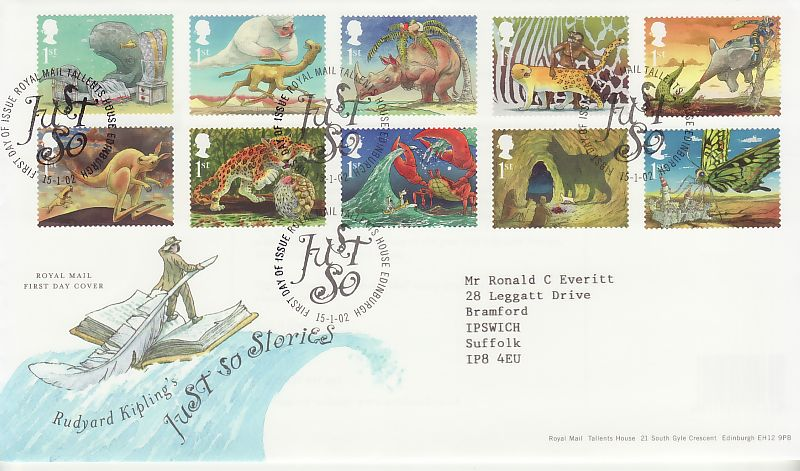 Kipling Just So First Day Cover