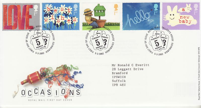 Occasions First Day Cover