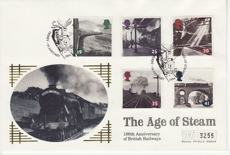 Age of Steam Railway First Day Cover