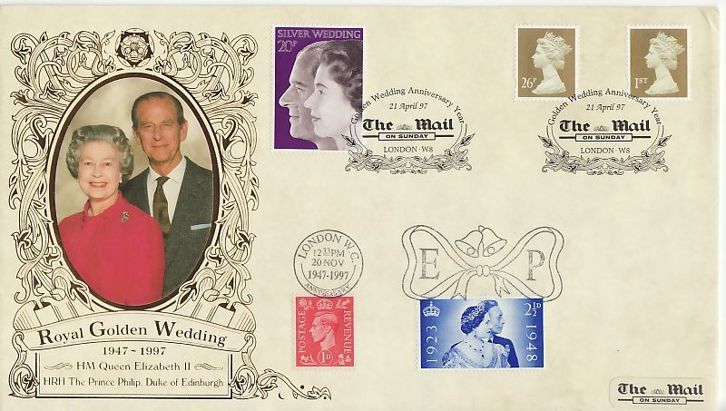 Royal Golden Wedding First Day Cover