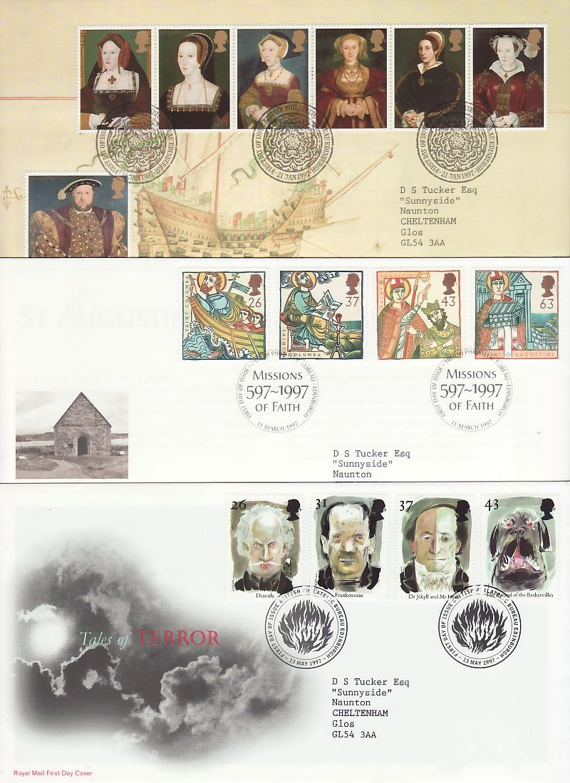 1997 First Day Covers