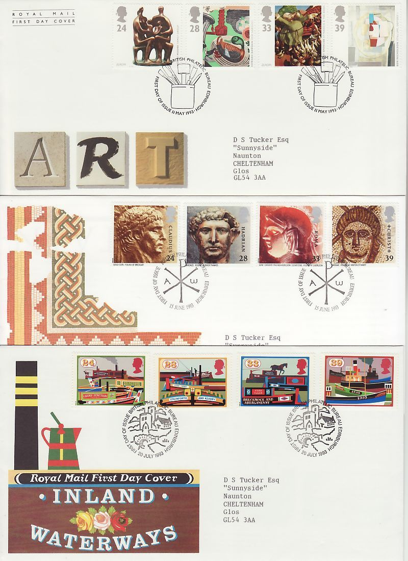 1993 First Day Covers