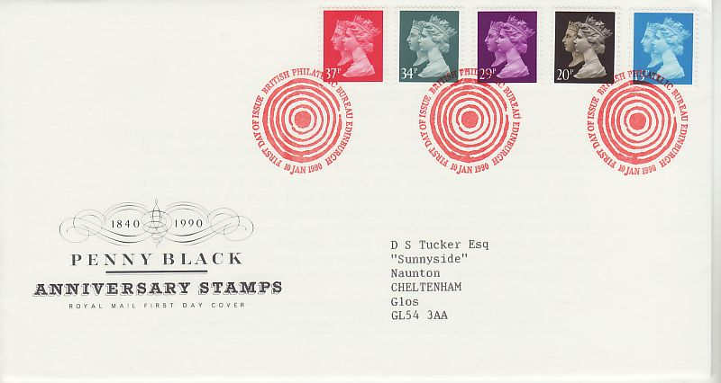 Penny Black Anniv First Day Covers